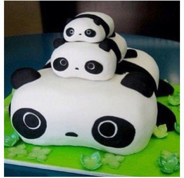 Strange 8 Cute Panda Birthday Cakes Photo Panda Bear Birthday Cake Ideas Funny Birthday Cards Online Inifofree Goldxyz
