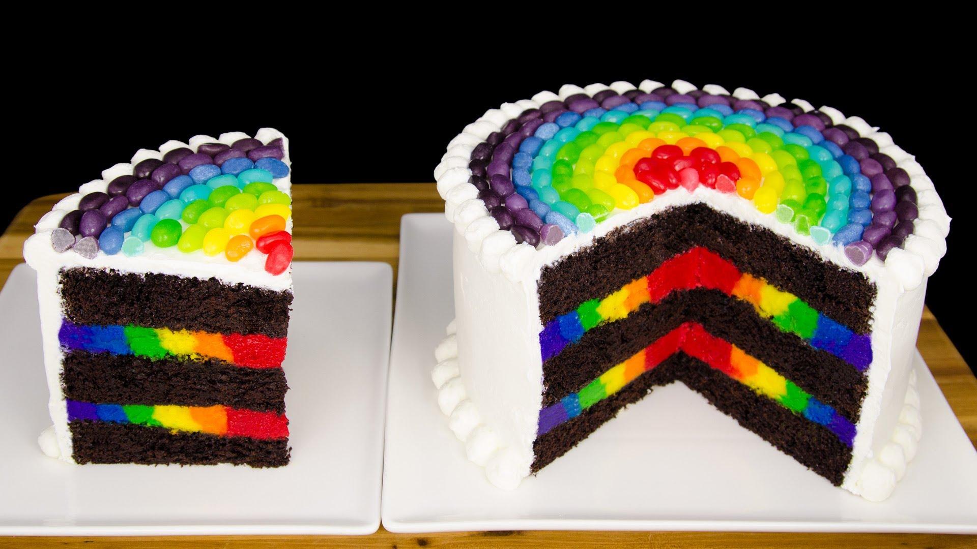13 Rainbow Birthday Cakes Cupcakes And Cardio Photo Rainbow Cake