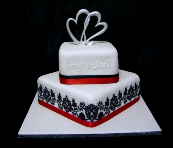 13 Off White And Red Wedding Cakes Photo - Wedding Cake White with ...