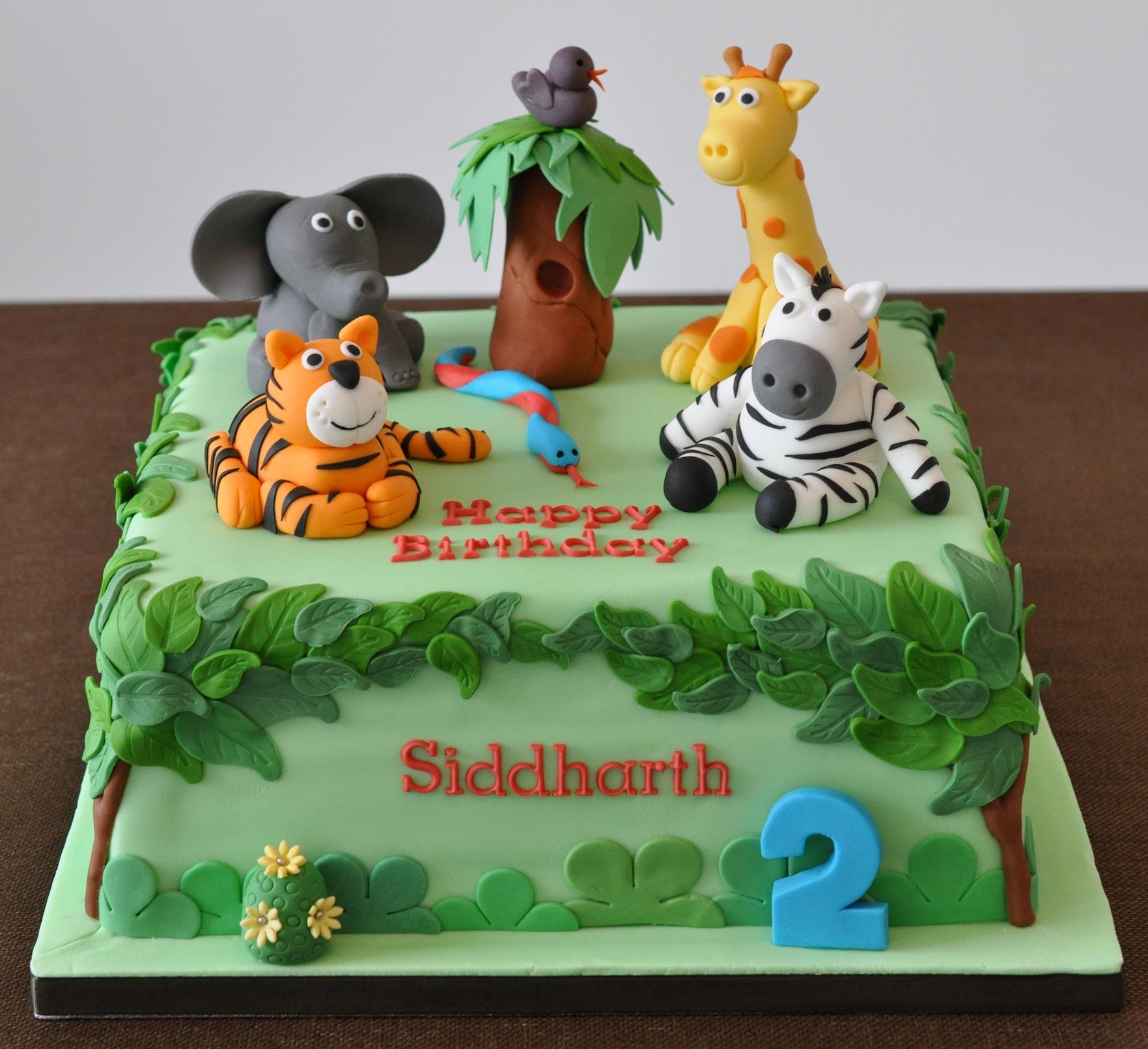 Amazing 13 Birthday Cakes Jungle Party Photo Safari Birthday Cake Funny Birthday Cards Online Elaedamsfinfo