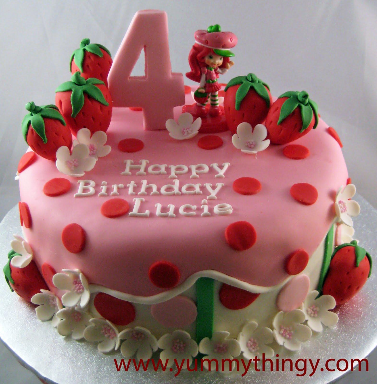 Incredible 8 Straw Shortcake Theme Cakes Photo Strawberry Shortcake Personalised Birthday Cards Beptaeletsinfo