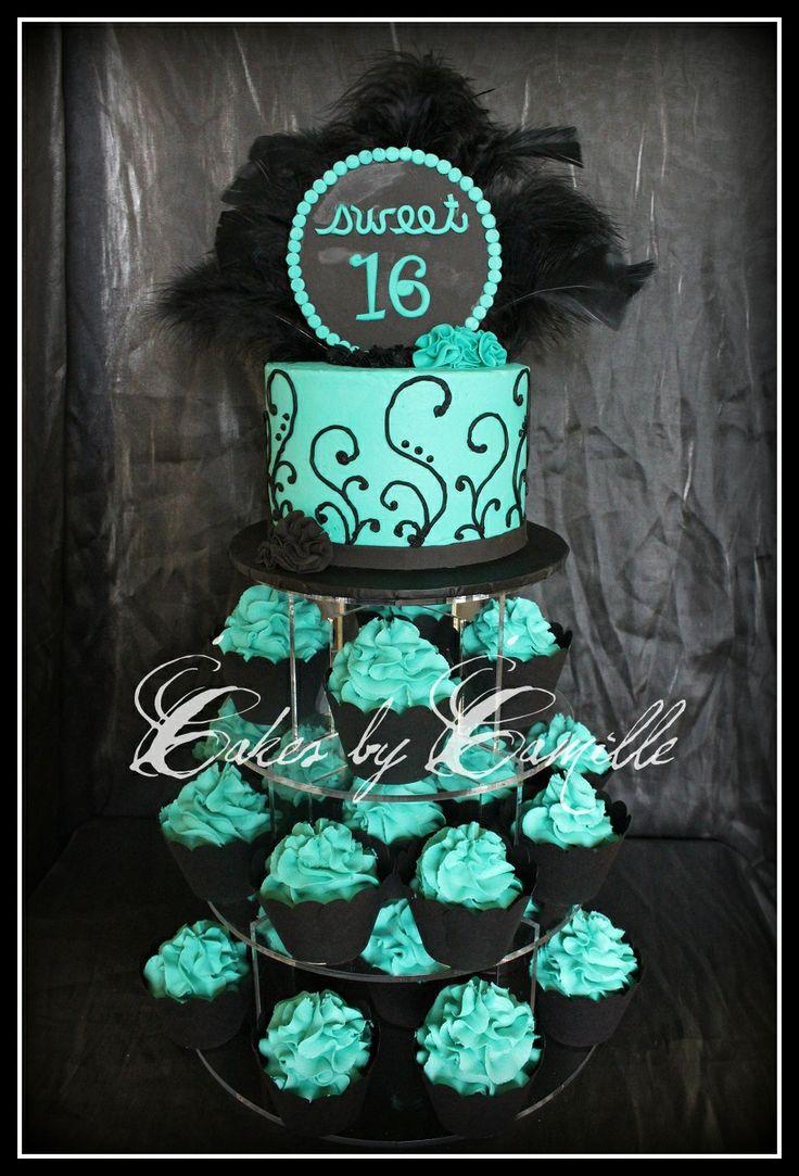 11 Caupcakes Single Layer Sweet 16 Photo Sweet 16 Cakes Single