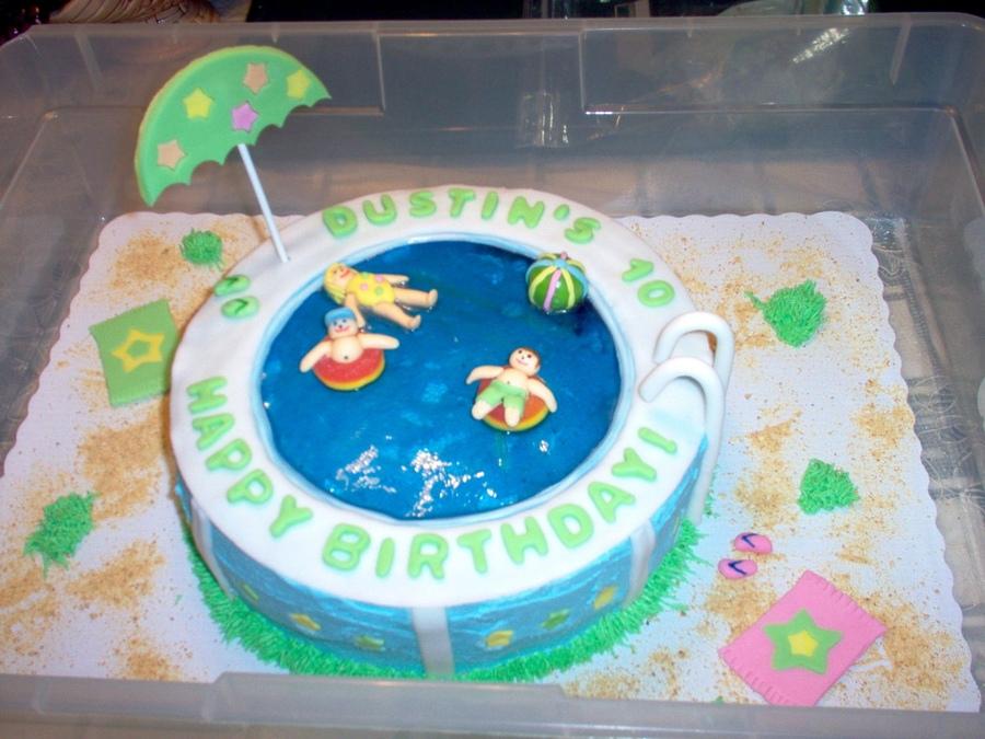 12 Beautiful Pool Cakes Photo Pool Party Cake Happy Birthday Cake