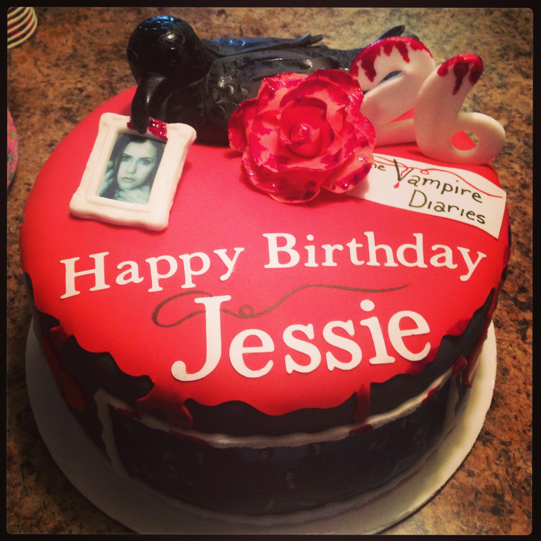 9 Vampire Candy Cakes Photo Vampire Birthday Cake Vampire Diaries