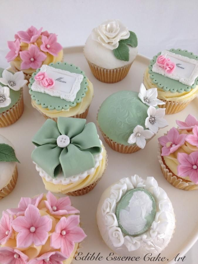 Vintage Mother's Day Cupcakes