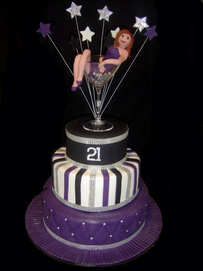 7 Birthday Cakes For Women Cocktail Photo 21st Birthday Cakes With