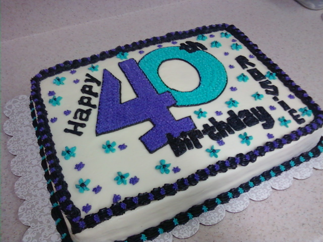 40th Birthday Sheet Cakes