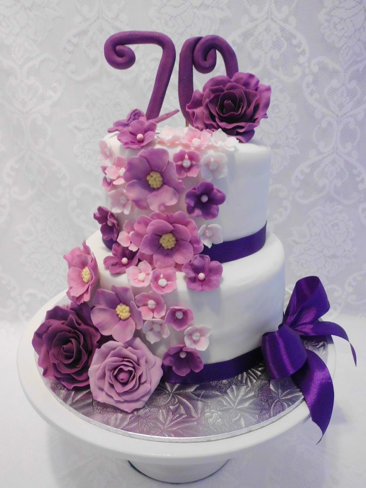 70th Birthday Cake Purple