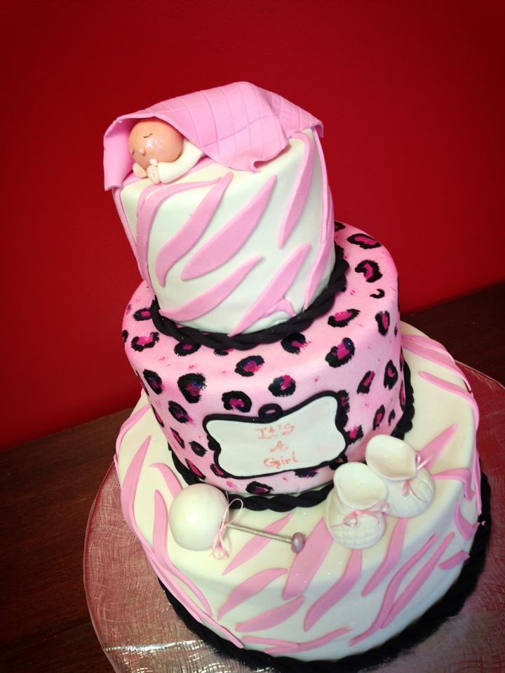 10 Cute Cheetah Baby Cakes Photo Animal Print Baby Shower Cake
