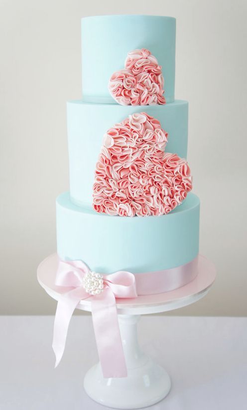 11 Cake Boss Wedding Cakes Pink And Blue Photo Baby Blue And Pink
