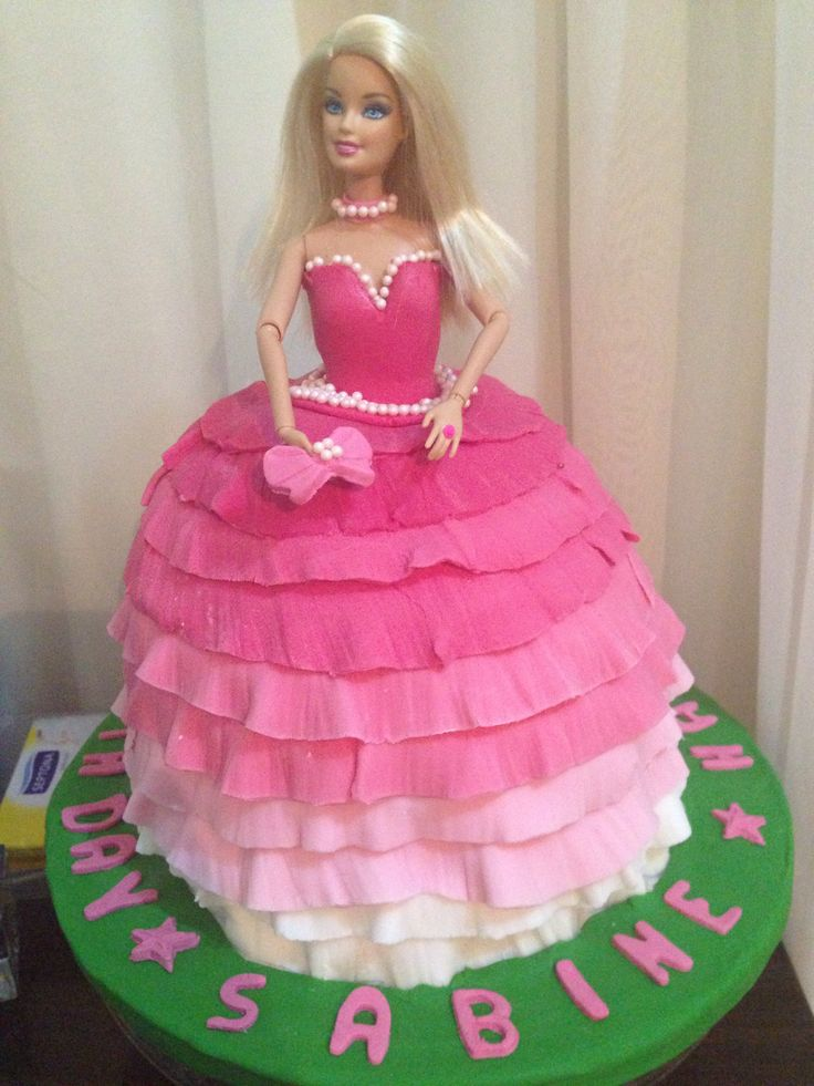 10 Barbie In Pink Birthday Cakes Photo Barbie Doll Birthday Cake
