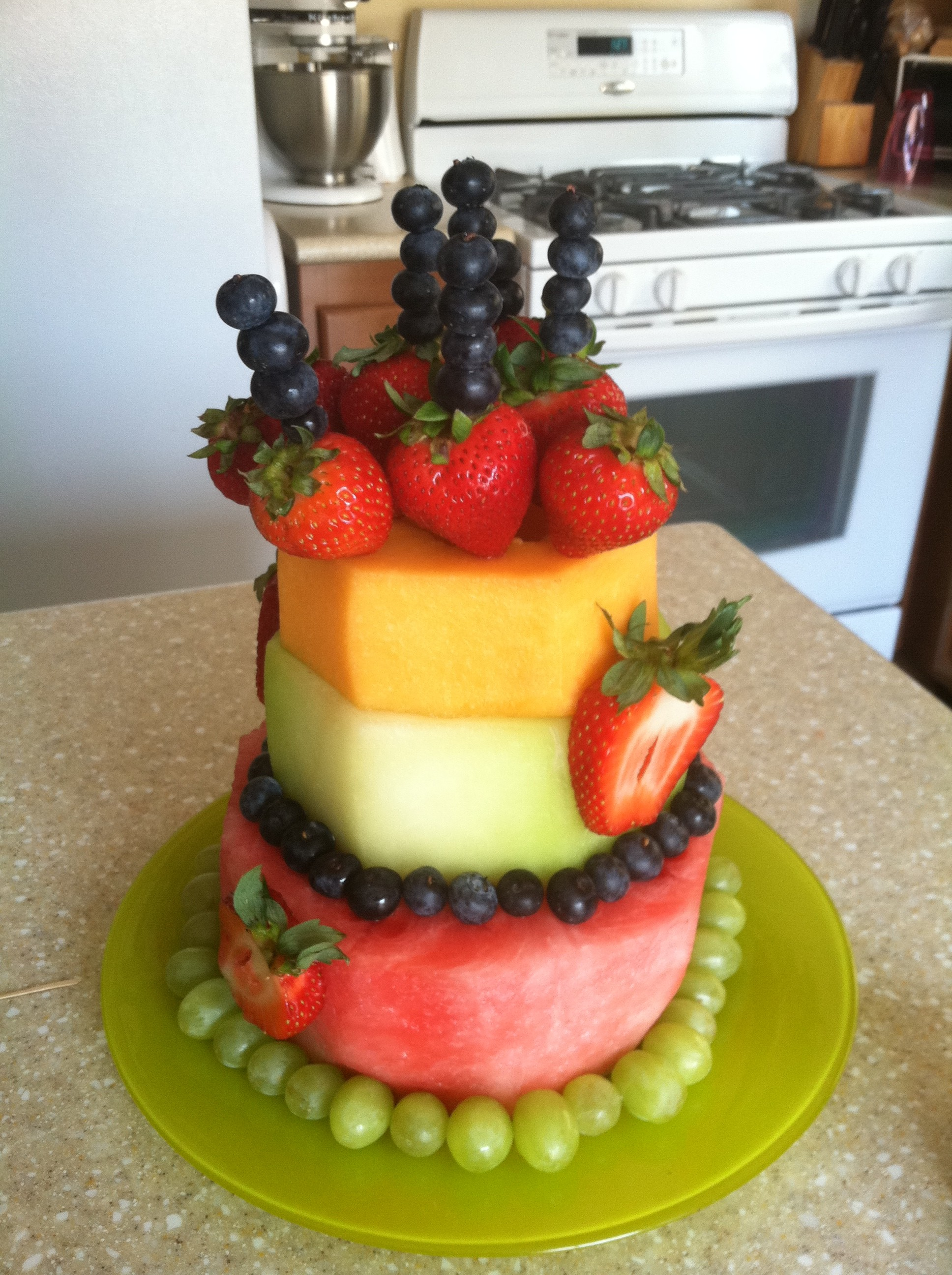 Birthday Cake Made With Fruit