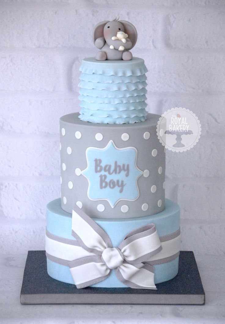 Blue Baby Boy Shower Cakes Pictures