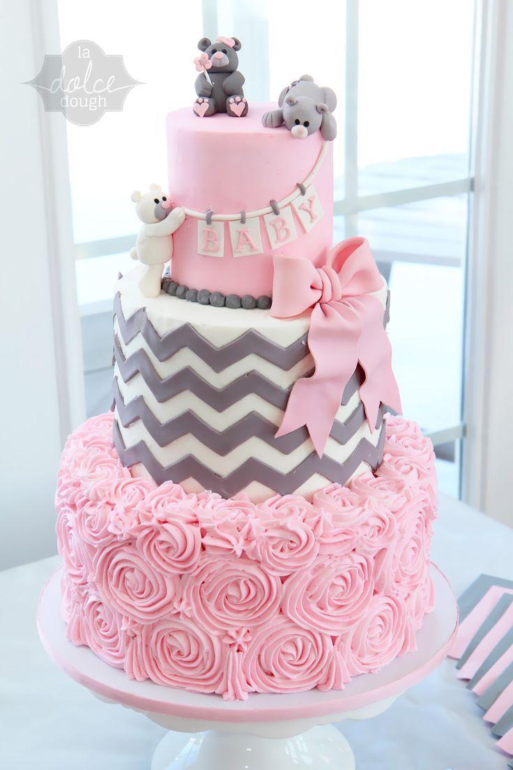 Girls 13th Birthday Cake Ideas Via Chevron Baby Shower