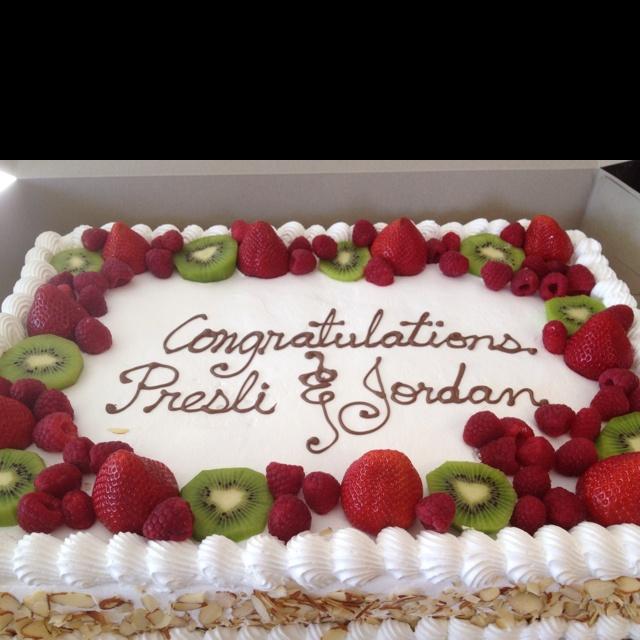 10 Using Sheet Cakes Fresh Fruit Photo Sheet Cake with Fresh Fruit