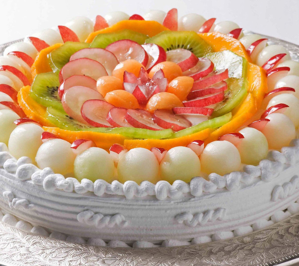 12 Photos of Fruit Decorated Cakes Simple