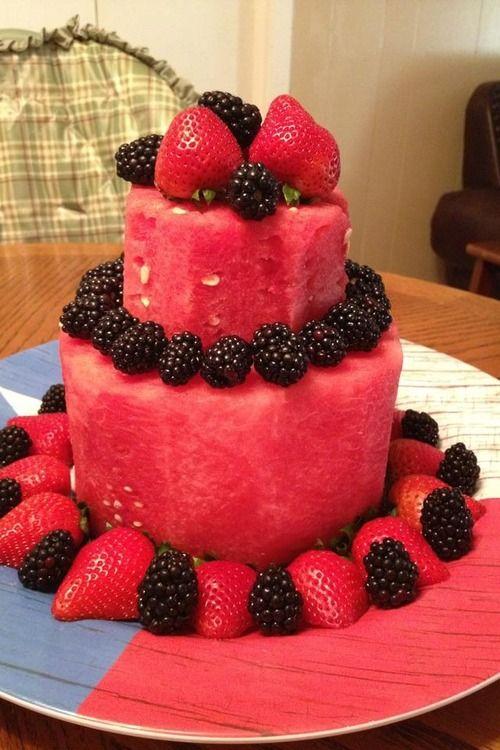 10 Edible Fruit Design Cakes Photo