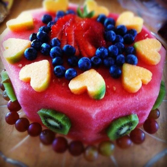 Happy Birthday Fruit Cake