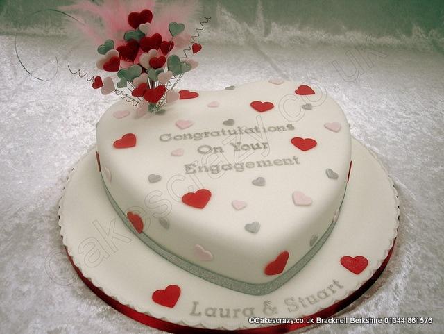 Decorated heart shaped cakes photo heart shaped cake