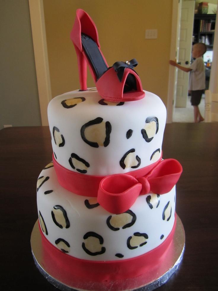 9 Custom High Heel Birthday Cakes Photo Happy Birthday Heather