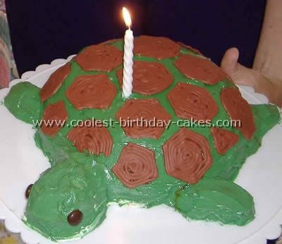7 Homemade Sea Turtle Cakes Photo Homemade Turtle Birthday Cake