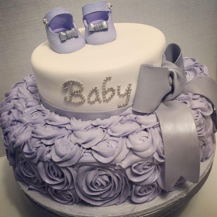 Lavender Baby Shower Cake
