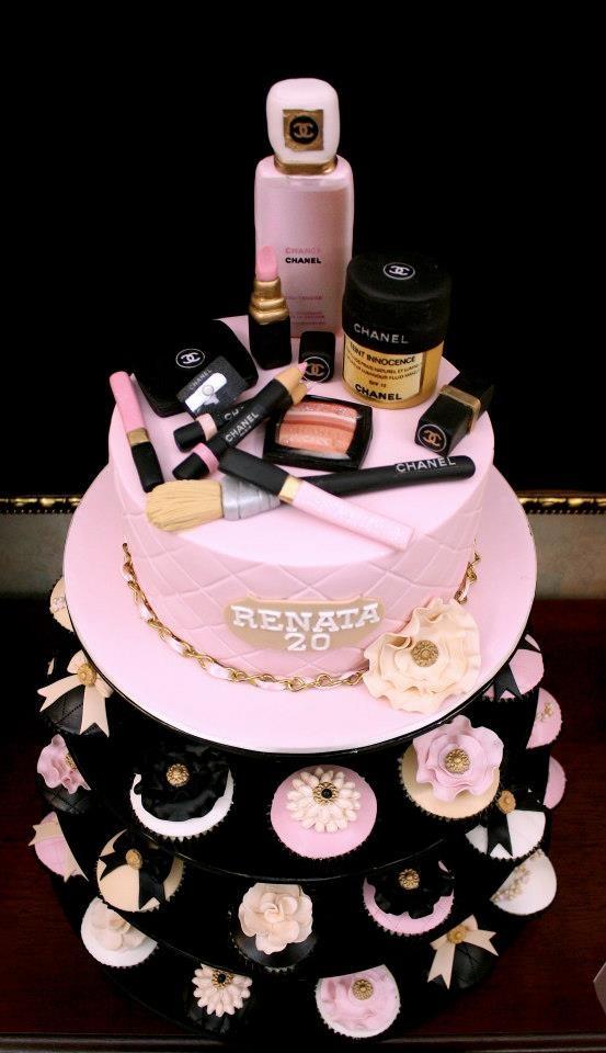 Makeup Birthday Cakes Cupcakes