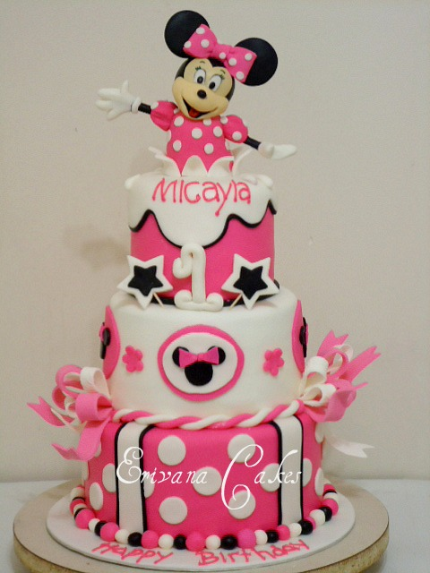 10 Best Minnie Mouse Cakes Photo Minnie Mouse Birthday Cake