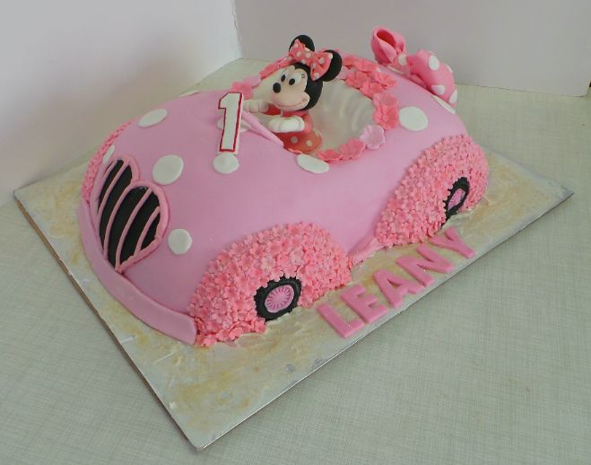 12 Minnie Mouse Cakes Car Birthday In Richmond Va Photo Minnie