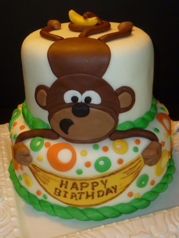 8 Mod Monkey Cakes For Boys Photo Monkey Birthday Cake Mod Monkey