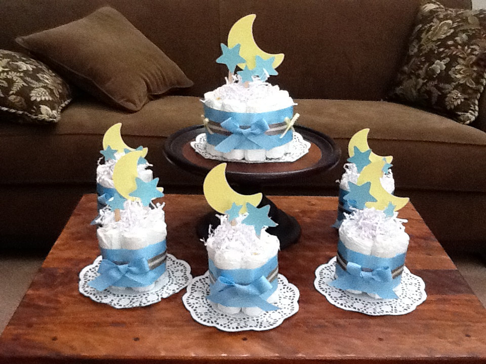 9 Stars For Baby Showers Diaper Cakes Photo Moon And Stars Baby