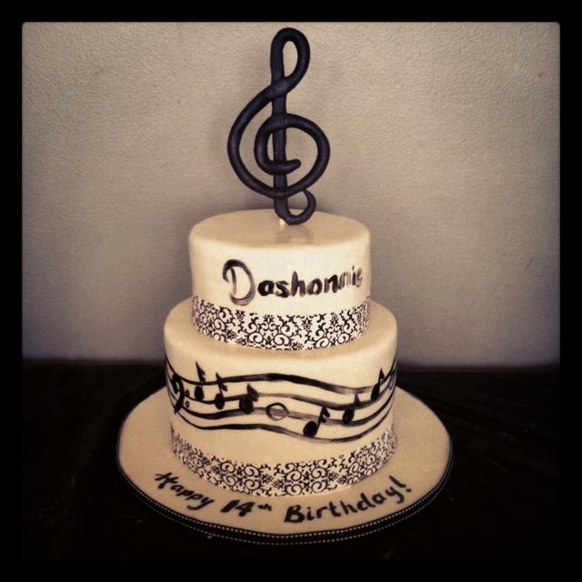 Fabulous 12 67 Music Themed Birthday Cakes Photo Music Themed Birthday Birthday Cards Printable Benkemecafe Filternl
