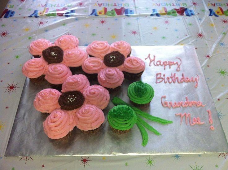 12 Pull Apart Cupcake Birthday Cakes Ideas Photo