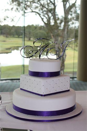 8 Square Round Square Wedding Cakes Photo - Purple Square and Round ...