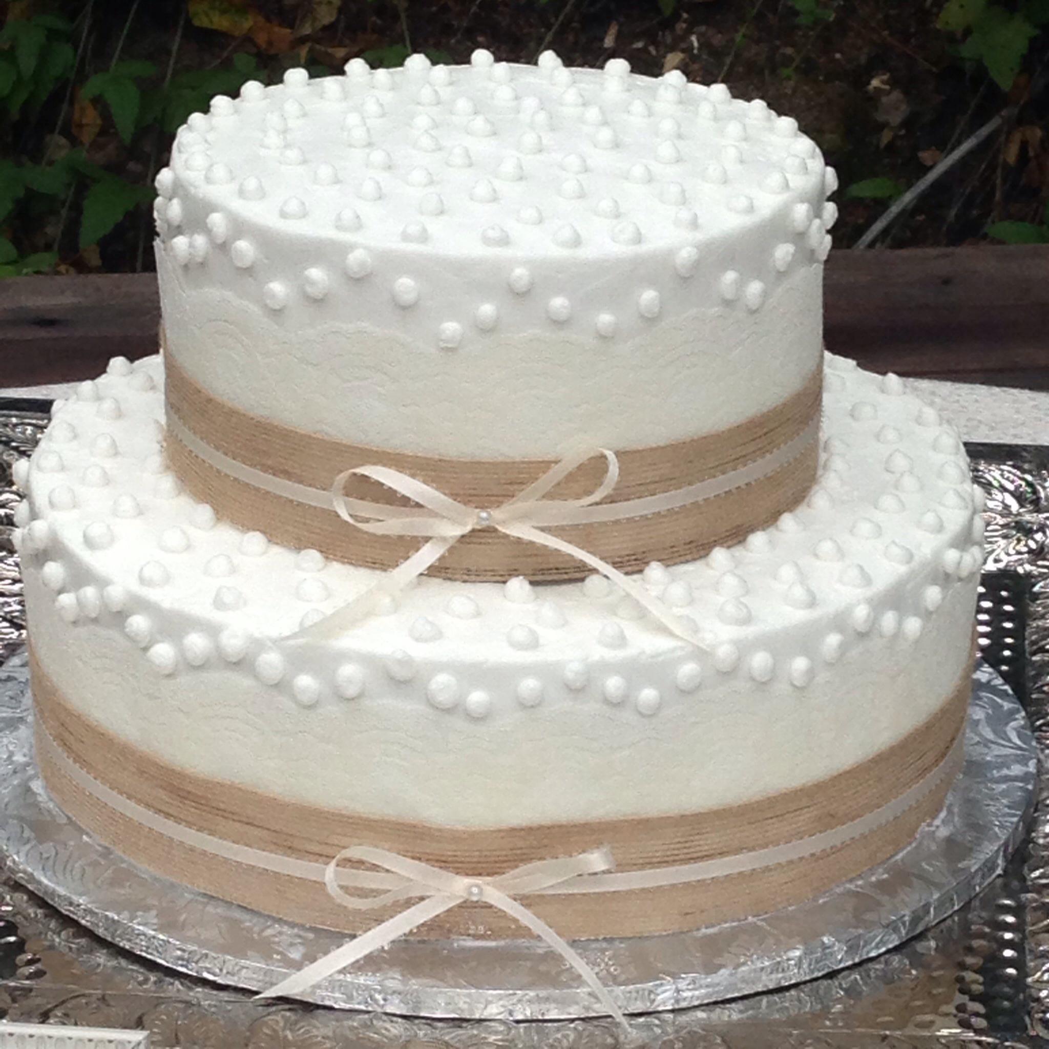 12 Buttercream Wedding Cakes And Ribbon Photo - Buttercream Wedding ...
