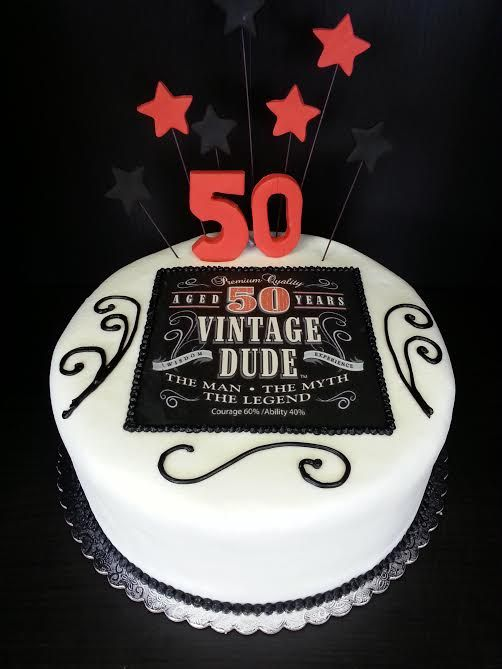Superb 6 Vintage Dude 50Th Birthday Cakes For Men Photo Vintage Dude Personalised Birthday Cards Veneteletsinfo