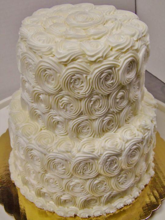 2 Tier Buttercream Wedding Cakes