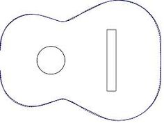 12 Acoustic Guitar Cakes Patterns Templates Photo - Guitar Cake ...