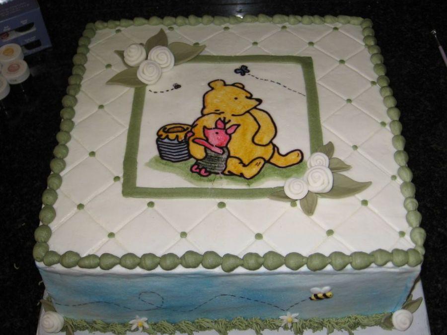 7 Winnie The Pooh Baby Shower Sheet Cakes Photo Winnie Pooh Baby