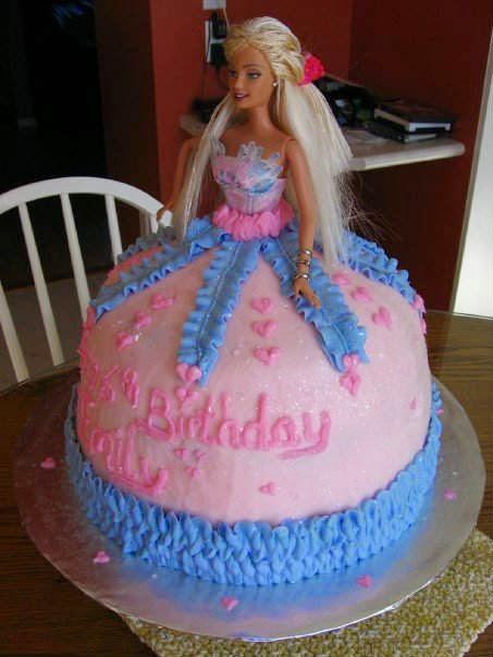 Wondrous 7 Barbie Girl Cakes Photo Barbie Birthday Cake Barbie Doll Cake Funny Birthday Cards Online Eattedamsfinfo