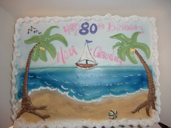 Prime 7 Beach Themed Birthday Sheet Cakes Photo Beach Theme Birthday Funny Birthday Cards Online Elaedamsfinfo