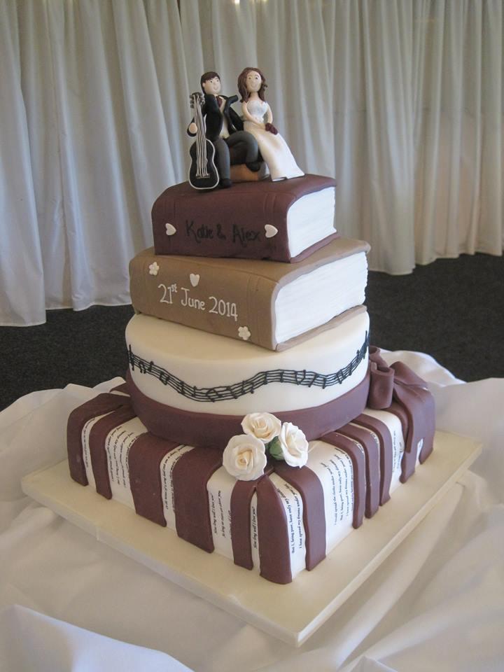 13 Book Themed Wedding Cakes Photo Book Theme Wedding Cake