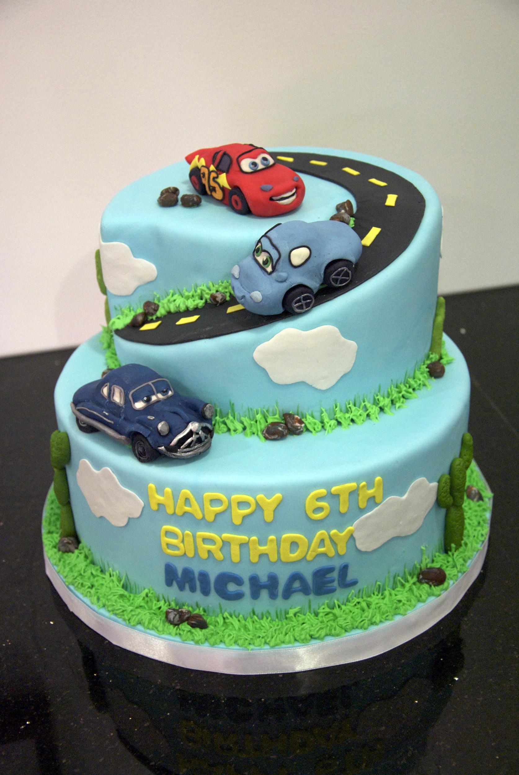 Admirable 8 Car Birthday Cakes Design Photo Disney Cars Birthday Cake Birthday Cards Printable Opercafe Filternl