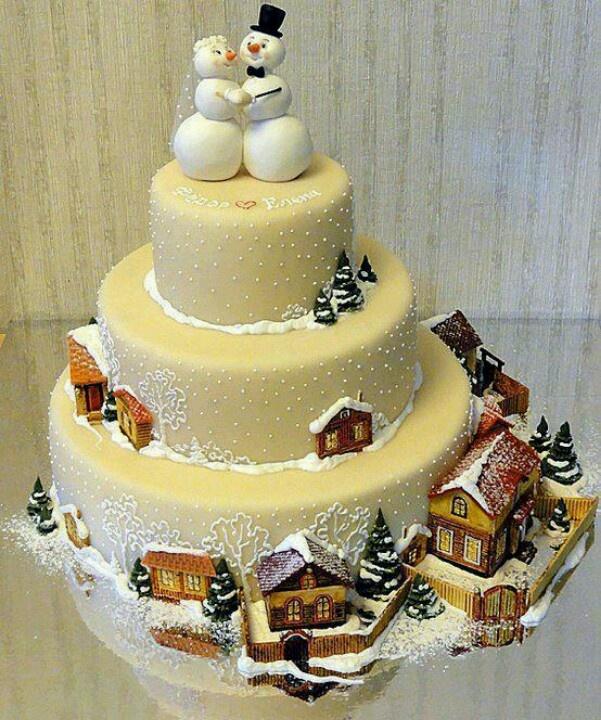 6 Stunning Christmas Cakes Photo - Christmas Theme Wedding Cake ...