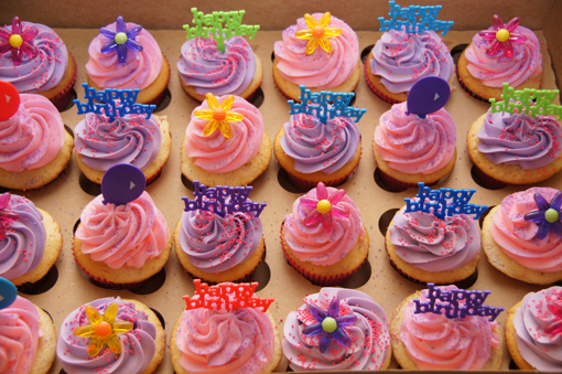 12 Cup Cakes For The Girl Photo Baby Shower Cupcake Ideas
