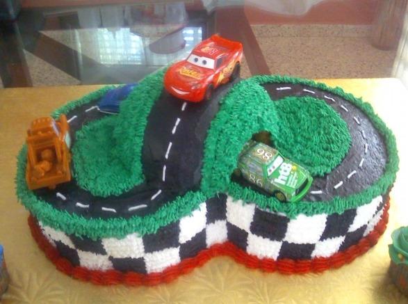 7 Black Sedan Car Shaped Cakes For Boys Photo Disney Cars Birthday