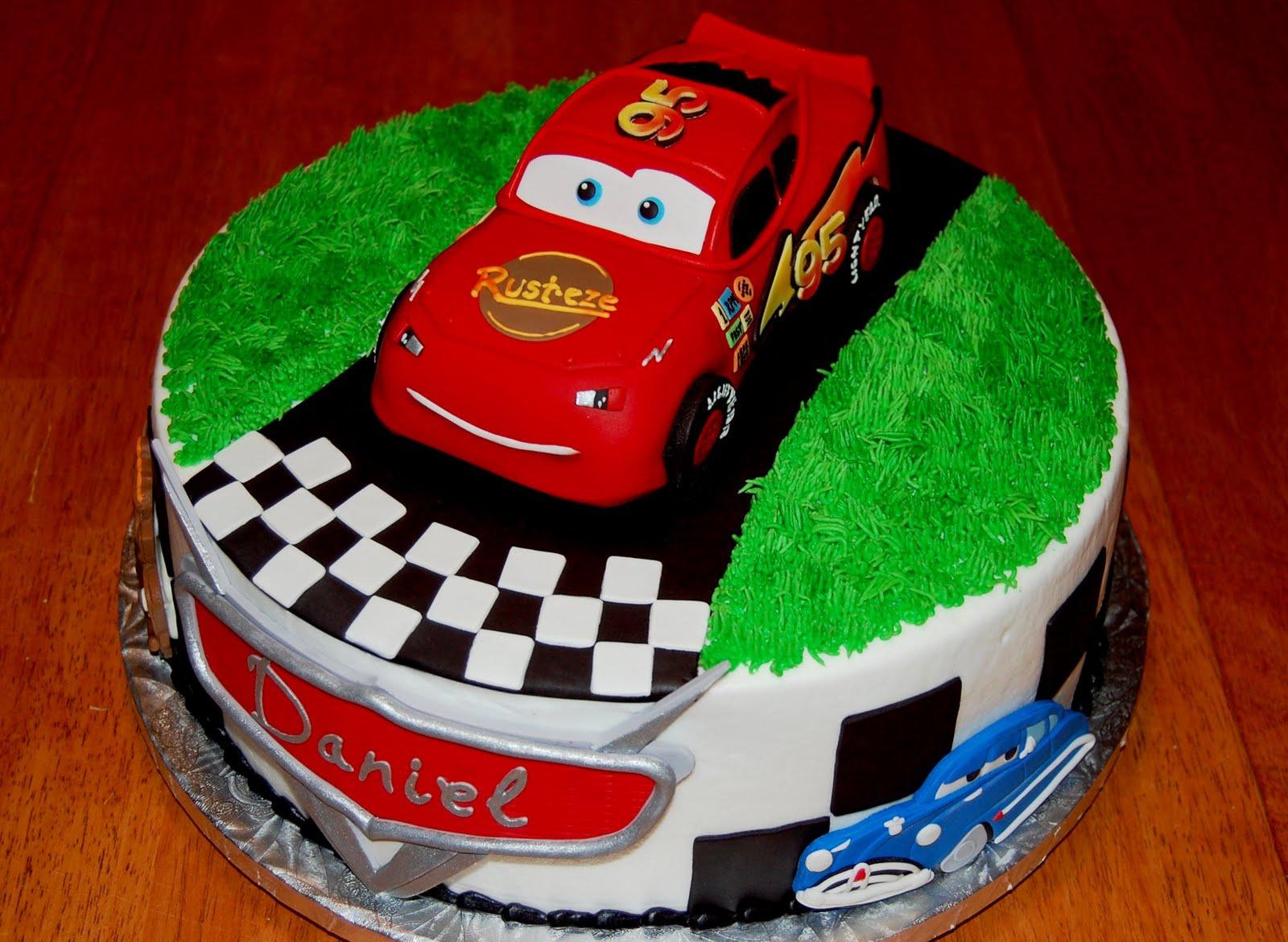 Strange 8 Car Birthday Cakes Design Photo Disney Cars Birthday Cake Personalised Birthday Cards Bromeletsinfo