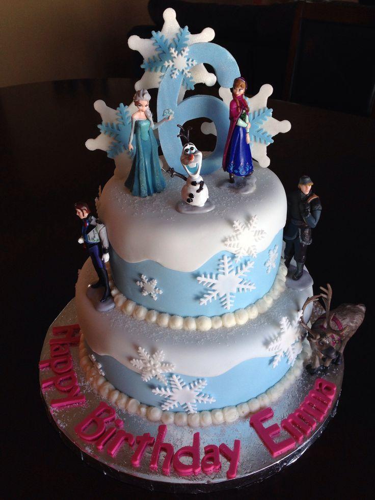 10 Girls Frozen Birthday Cakes Designs Photo Frozen Birthday Cake
