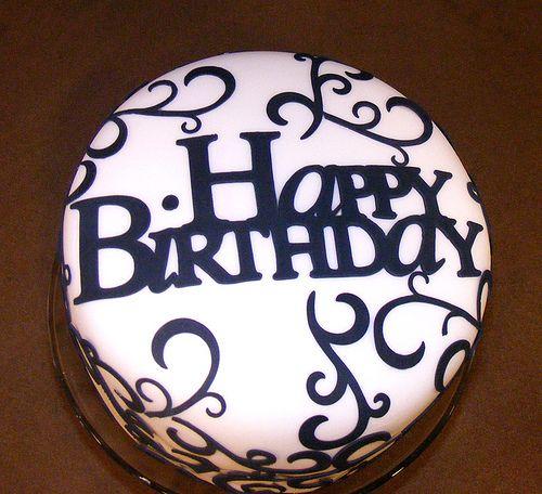 13 Black Elegant Birthday Cakes For Him Photo