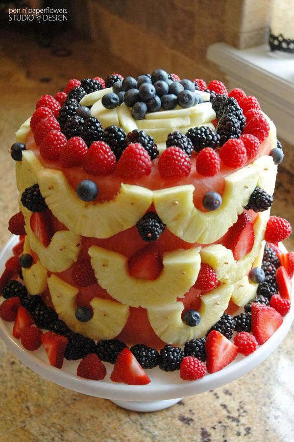 Prime 11 Cakes Made With Fresh Fruit Photo Watermelon Fruit Cake Personalised Birthday Cards Epsylily Jamesorg